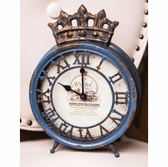 Royal Ivy Blue Mantle Clock