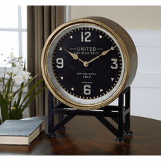 Shyam Mantel Clock by Uttermost