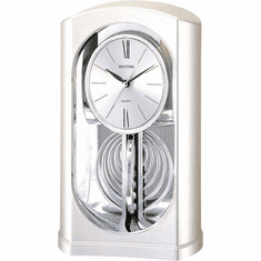 Silver Mirrored Motion Mantel Clock by Rhythm