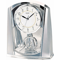 Silver Swing Mantel Clock by Rhythm