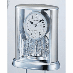 Silver Teardrop Mantel Clock by Rhythm