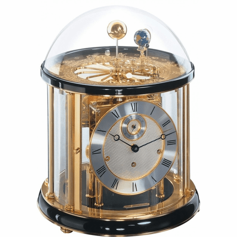 Tellurium I Clock Black by Hermle