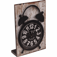 Timetress Black Mantel Clock