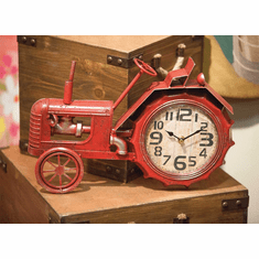 Red Tractor Mantel Clock