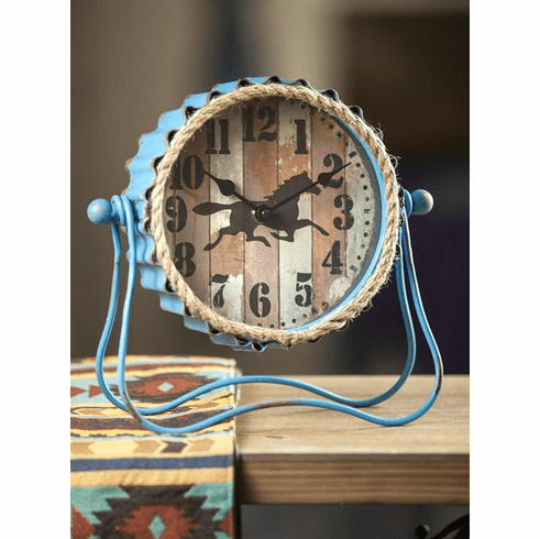 Western Rope Table Clock by Manual Woodworkers and Weavers