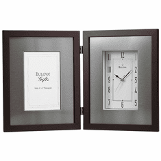 Winfield Picture Frame Clock by Bulova