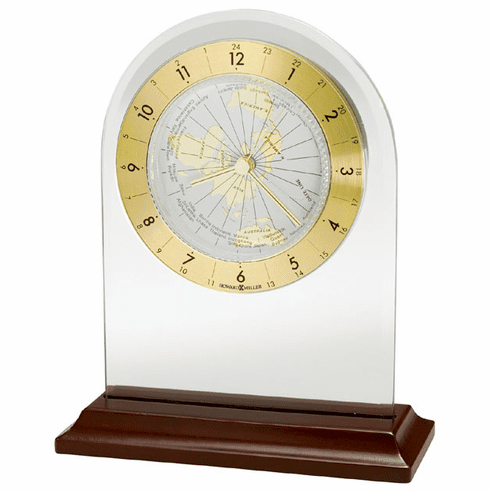 World Time Arch Alarm Mantel Clock by Howard Miller