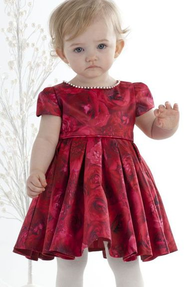Biscotti Rose Rhapsody -Cap Sleeve Dress-12m to 4t