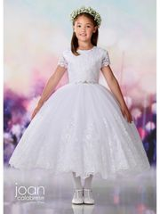 Joan Calabrese-119386 Communion Dress Tulle & Lace
