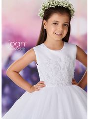 Joan Calabrese- 119387 Communion Dress Sequin & Lace