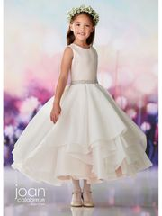 Joan Calabrese-119391 Communion Dress Tulle and Embroidery