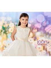 Joan Calabrese-218345 Flower Girl Dress Ivory