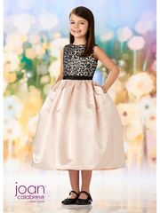 Joan Calabrese-218358 Flower Girl Dress Black & Petal