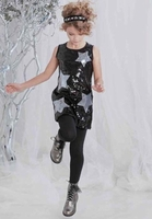 Kate Mack *A Star Is Born* Black Super Star Sequin Dress Size 5 & 6x only!!