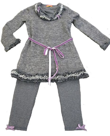 Kate Mack *Alpine Lace*  Tunic & Legging Set - Only size 8!
