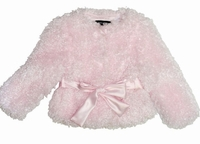 Kate Mack *Belle Epoque* Amazingly Soft and Beautiful Pink Poodle Jacket Sizes 12M 18m and 3T