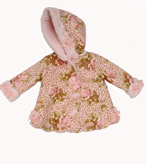 Kate Mack Coat  *Leopard and Roses* Sold out!!