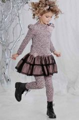 Kate Mack *On Safari* Dress in Cocoa- Sizes 4-6