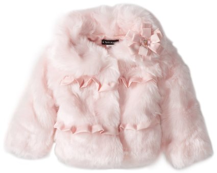 Kate Mack-*Pretty Kitty Faux Fur Jacket* sizes 18m & 2t