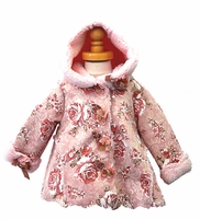 Kate Mack Rose Print Hooded Jacket  - Only size 9M Left Only!