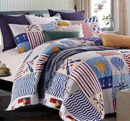 Anchors Away Nautical Quilt Set