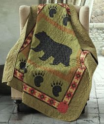 Black Bear Paw Quilted Throw