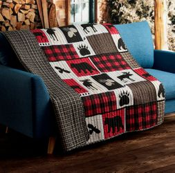 Lodge Life Buffalo Plaid Quilted Throw