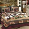 Winter Mountain Cabin Quilt Set