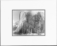 "ANSEL ADAMS -  EL CAPITAN, YOSEMITE NATIONAL PARK  Large Ansel Adams Matted Reproduction (16"" x 20"")"