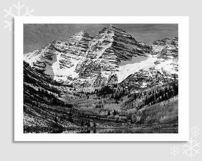 MAROON BELLS, NEAR ASPEN, CO, 1951 - HOLIDAY CARDS