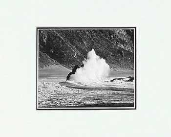 ANSEL ADAMS - WAVE, DILLON BEACH - SMALL MATTED REPRO