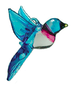 Recycled Glass Bluebird, large