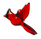 Recycled Glass Cardinal, large