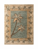 Light Green/Beige Bahamas Palm Tree Rug 2318A
