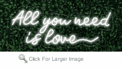 All you need is love LED FLEX Sign