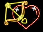 Arrow and Heart Neon Sign