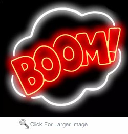 Boom! Neon Sign