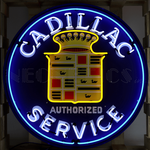 Cadillac Neon Sign in Metal Steel Can