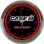 Case Red and Ready Neon Clock