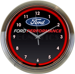 Ford Performance Neon Clock