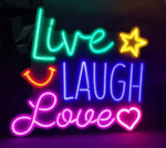Live Laugh Love Neon Sign