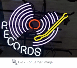 Music Records Neon Sign