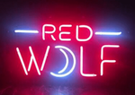 Red Wolf Moon Neon Sign