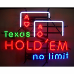 Texas Hold'em Neon Sign