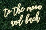 To the Moon and back LED FLEX Sign