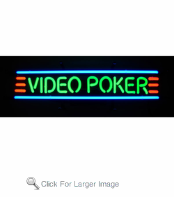 Video Poker Neon Sign