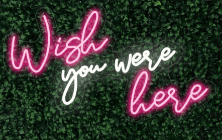 Wish you were here LED-FLEX Sign
