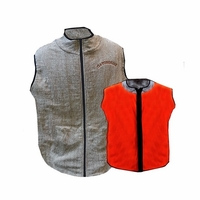 GatorSkins Fleece Lined Switchback Vest Reversible Brown and Blaze