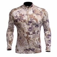 Kryptek Hoplite 2 Merino Midweight Baselayer 1/4 Zip Top Highlander Camo