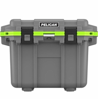 Pelican Elite Cooler Gray and Green 30 Qt